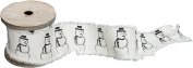 Spool of Cotton Ribbon With Snowmen Print 4.4cm W x 300cm L