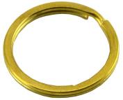 Okones 4 Multi-Sizes Leather handmade Factory Flat Split Solid Brass Antique Key Ring Pack of 20