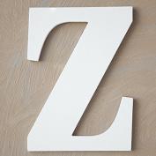 """The Lucky Clover Trading """"Z"""" Wood Block Letter, White"""