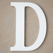 "The Lucky Clover Trading ""D"" Wood Block Letter, White"
