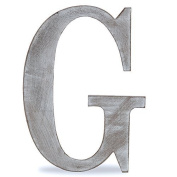 "The Lucky Clover Trading ""G"" Wood Block Letter, Charcoal Grey"