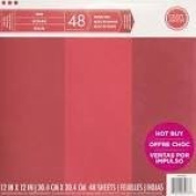 Craft Smith 30cm by 30cm Paper Pad, Reds, 48 Sheets