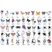 Airbrush Tattoo Stencils Book- Reuseable Tattoo Template Set(11-15)