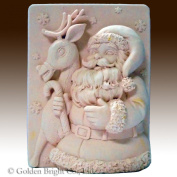 Snowflake Santa and Reindeer - 2d Silicone Soap/polymer/clay/cold Porcelain Mould