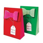 Meri Meri Red Green Glitter Bow Gift Bags