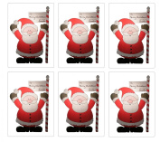 Set of 6 Large Santa Sacks - Size 80cm X 50cm