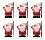 Set of 6 Large Santa Sacks - Size 80cm X 50cm