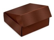 """Decorative Shipping Boxes - Chocolate Gourmet Shipping Boxes 6x 6"""" x 5.1cm Auto Lock Boxes - (6 Per Pack) - WRAPS-50CH"""