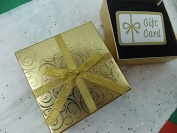 Gift Card Holder Box w/ Bow 4.25 X 4.25 - Velvety Insert for Your Giftcard