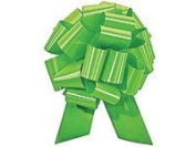 Christmas Gift Wrap- Citrus Lime Satin Pull Bows Value Pack - 12 Pcs