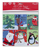 Paper Craft 48 count Christmas Gift Tags