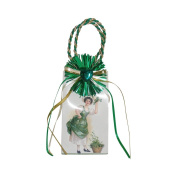 "Miniature Music Box Mini Gift Bag - White with Shamrock design ""Oh Danny Boy"""