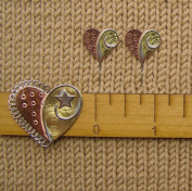 Puffin & Company Knitting Swatch Gauge Counting Set - Heart