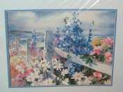 No Count Cross Stitch Seaside Fence Garden By Ruth Baderian 1990
