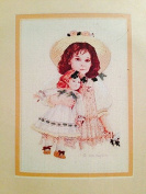 Counted Cross Stitch Kit - Girl with Doll - Emily - 13cm X 18cm