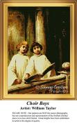 Choir Boys, Vintage Cross Stitch Pattern