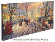 A Victorian Christmas Carol - Thomas Kinkade 41cm X 80cm Gallery Wrapped Canvas