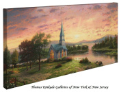 Sunrise Chapel - Thomas Kinkade 41cm X 80cm Gallery Wrapped Canvas