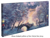 Holiday At Central Park - Thomas Kinkade 41cm X 80cm Gallery Wrapped Canvas