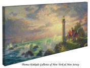 The Guiding Light - Thomas Kinkade Lighthouse 41cm X 80cm Gallery Wrapped Canvas
