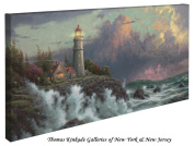 Conquering the Storms - Thomas Kinkade Lighthouse 41cm X 80cm Gallery Wrapped Canvas