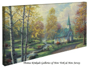 The Aspen Chapel - Thomas Kinkade 41cm x 80cm Gallery Wrapped Canvas
