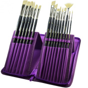 Paint Brush Set - 15 Synthetic Bristle Brushes - The Ultimate Paintbrushes for Acrylic and Oil Painting - Artists' Quality Art Supplies by MyArtscape™ | 1 Year Warranty