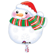 Anagram Bundled Up Snowman Junior Shape Foil Balloon