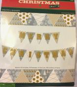 Festive Sparkle Christmas Party Banner Decoration Kit