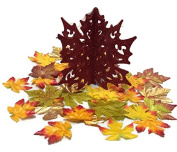 Glitter Leaf Centrepiece & Decorative Fall Maple Leaves - Thanksgiving Table