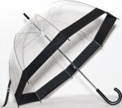 Elite Rain Frankford RB01-BLK Clear Bubble Umbrella Black Trim