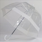 Elite Rain Frankford RB01-WH Clear Bubble Umbrella White Trim