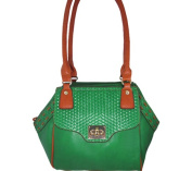 Aryana Ashlyn7grn Green Handbag With Twist Lock Flap