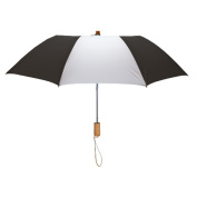 Peerless 2363-Black-White Executive Folding Umbrella Black And White