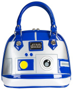 Loungefly Star Wars R2D2 Blue/White/Silver Patent Dome Bag