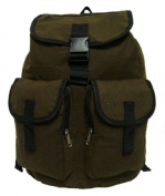 K-Cliffs Heavy Duty Canvas Backpack Olive Green