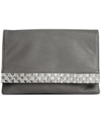 Sasha Bling Envelope Clutch Grey