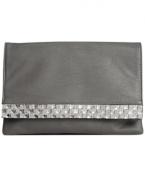 Sasha Bling Envelope Clutch Grey
