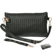 Missy K Large Wristlet Clutch Purse, with Detachable Straps + kilofly Money Clip