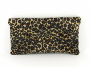 Loni Womens Neat Envelope Animal Print Faux Fur Clutch Bag/Shoulder Bag