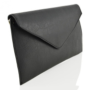 ESSEX GLAM SYNTHETIC LEATHER CLUTCH HANDBAG