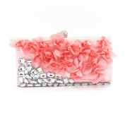 Kingluck Silk flower Wedding/Special Occasion Clutches/Evening Handbags With Flowers