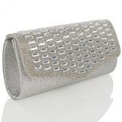 ESSEX GLAM Glitter Diamante Evening Bag