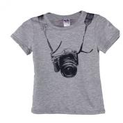 Shensee Summer Baby Boy Kids Camera Short Sleeve Tops T Shirt Tees Clothes