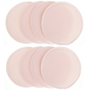 Cren® Ultra Soft Reusable Washable Organic Nursing Pads Leak-proof Prevents Wet Bra Pads Absorbent Breast Pads, 4 pairs