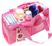 SEADEAR Travel Outdoor Portable Baby Nappy Nappy Insert Organiser Storage Bag 7 Pocket