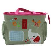 Niyatree Portable Baby Bag Cute Cartoon Multifunction Nappy Bag-Khaki