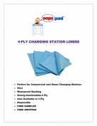 Oops Pad 4-Ply Blue Changing Station Table Liners 50ct