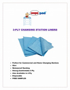 Oops Pad 3-Ply Blue Changing Station Table Liners 50ct