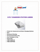 Oops Pad 3-Ply White Changing Station Table Liners 50ct